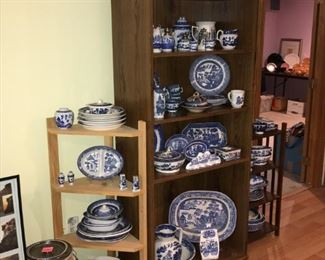 Great collection of Blue Willow Stoneware