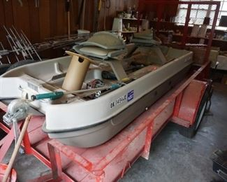 Boat, trailer, motor--all sold seperately