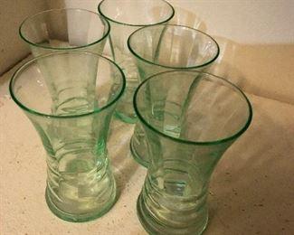 5 vintage Juice glasses BUY IT NOW $10