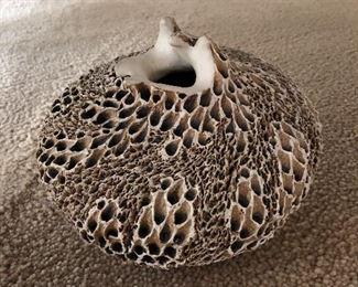 Sculpted Vase By Anne Goldman