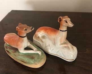 """Pair of Staffordshire dogs 3"""" h As is"""