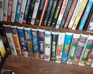 DVDs and VHS.  Popular titles.