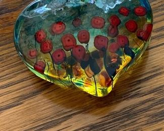 Beautiful glass heart. Vintage and unique.  Lovely home filled with incredibly kept antiques, collectibles and home decor. Message, Text/ Call Steph at 518-944-0255!  All items will be on