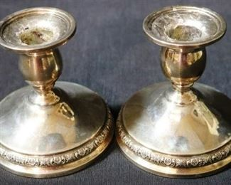 "Lot #3 - International ""Prelude"" Sterling Silver Candle Holders (2pc)"