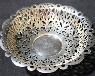 Lot #1 - Sterling silver Pierced Bowl
