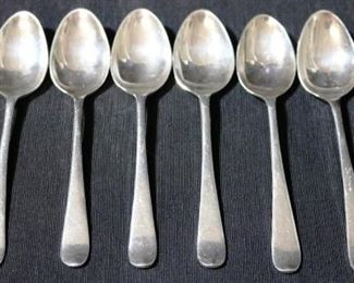 Lot# 5 - Set of 6 English Hallmarked Sterling Silver Spoons