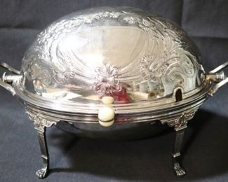Lot# 8 - Sheffield EPNS Silver Plated Rolling Dome Server