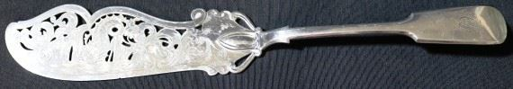Lot# 19 - English Hallmarked Silver Plated Serving Knife