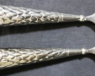 Lot# 32 - Silver Plated Serving Spoons (2pc)