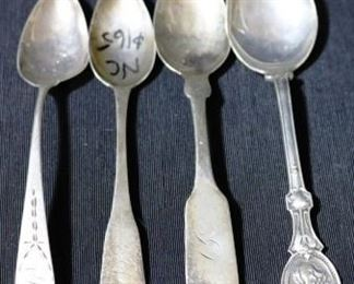 Lot# 41 - Lot of 4 Coin Silver Spoons