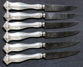 Lot# 45 - Set of 6 Sheffield Sterling Handle Knives