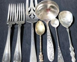 Lot# 62 - Lot of 7 Assorted Silver Plated Utensils