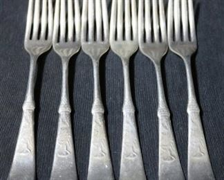 Lot# 81 - Set of 6 Silver Plated Forks