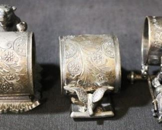 Lot# 92 - Lot of 3 Antique Silver Plated