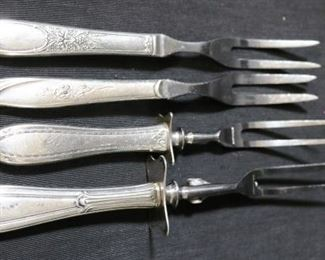 Lot# 101 - Lot of 4 Silver Plated Serving Forks