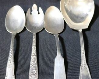 Lot# 102 - Lot of 4 Silver Plated Serving Spoons