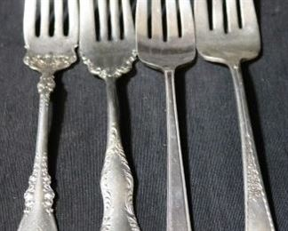 Lot# 109 - Lot of 4 Assorted Silver Plated Forks