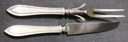Lot# 113 - Silver Plated Carving Set (2pc)