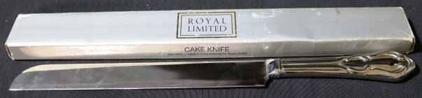 Lot# 117 - Royal Limited Silver Plated Cake Knife