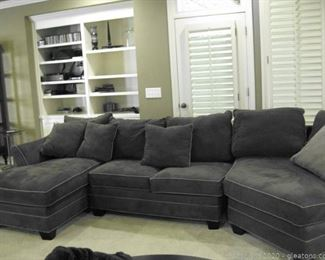 3 Piece Suede Sectional from HM Richards Inc