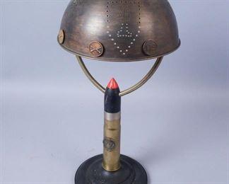 Homemade Shell Case Lamp