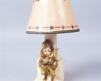 Miniature Soldier Lamp with Paper Shade