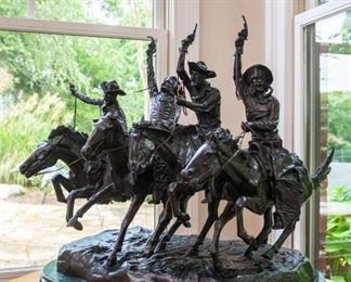 """Frederic Remington bronze """"Coming Through the Rye"""""""