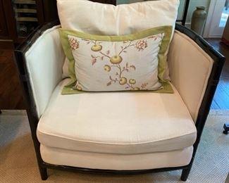 Faux bamboo chair detail