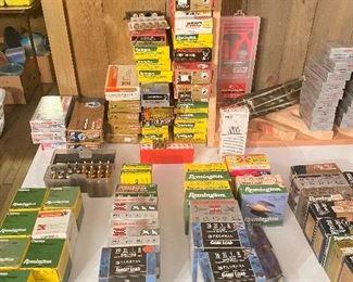 Different caliber rifle, pistol and shotguns shells: 410ga, 16ga,20ga 10ga & 12ga etc