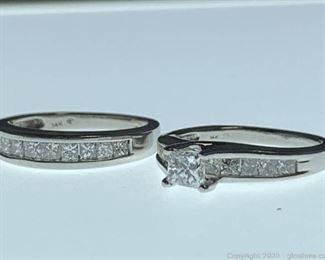 14k Diamond Engagement Ring Set Appraised