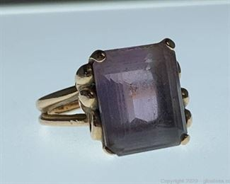 14k Vintage Amethyst Ring