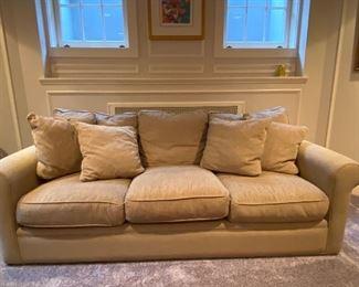 "Crate & Barrel Sofa excellent condition 42""d x 89""l x 30""h nice neutral shade"