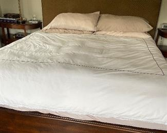 """Custom King Headboard and frame - California king 56""""h x 86""""l x 83""""w $480. Stunning bed frame, mattress not for sale."""