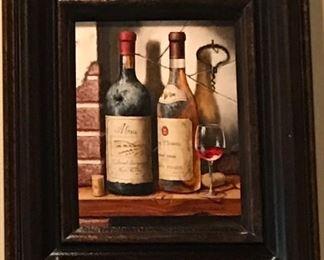 Original signed Wine Art .. great for bar area