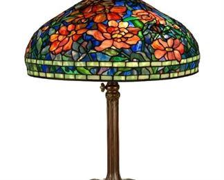 A Fine Tiffany Studios, New York, Peony Table Lamp