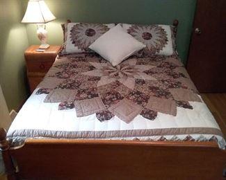 Full Size Bed Frame, Mattress, Box Spring
