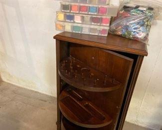 Swivel Door Sewing Cabinet Plus Floss