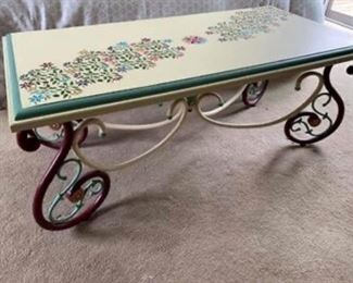 "Gorgeous hand painted table for sale.  It measures 47"" long, 24"" wide and 17"" tall.  Lovely!  Only $195"