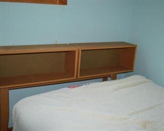 Mid century bookcase bed