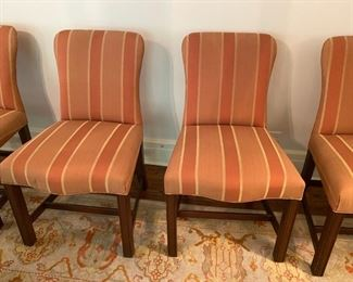 "Set of eight Tom Stringer custom dining chairs             Asking 1400.00     Originally 9200.00                                                                                          37""h x 22""w x 27""d"