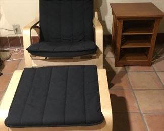 Poang Chair and Footrest set. (There are two sets.)