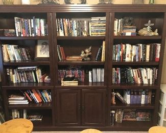 bookshelves throughout the home  are filled with books on Christian theology, counseling, and current Christian literature and audio material.