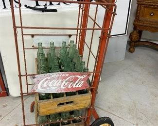 Antique Coca Cola Bottle Rack
