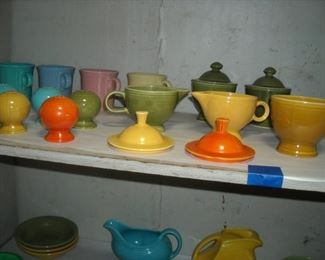 Large collection of Fiesta ware