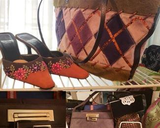 Moschino Purse and Shoes, Gucci Purse, Prada, Designer Purses
