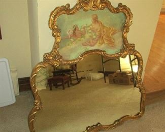 Gorgeous Ornate Hand Painted Wall Mirror