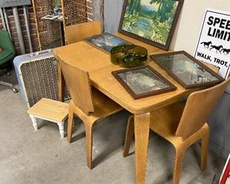 Thaden Jordan. 1950s table and chairs