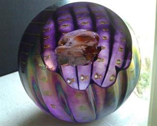 Juno Asteroid Paperweight Glass Eye Studio Celestial Series