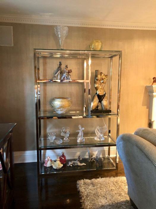 Chrome & glass etagere & Quality home contents