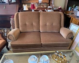 From the 1930's - 1940's Mohair Love Seat